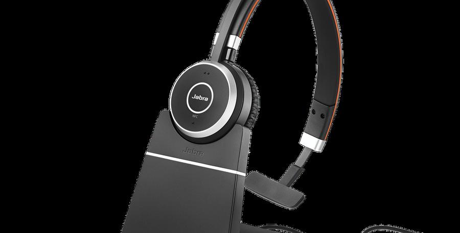 Jabra Evolve 65 UC Mono Wireless Headset + Charging Stand USB