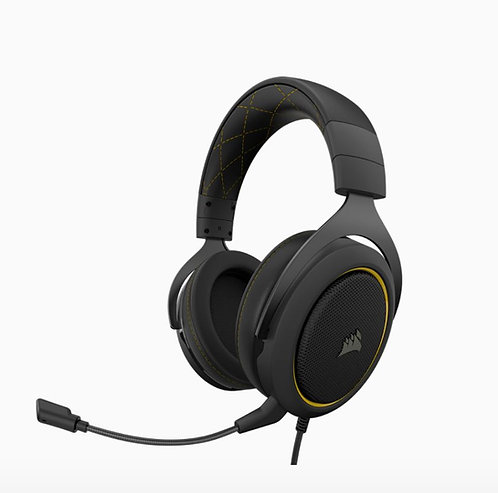 Corsair HS60 PRO USB Black Yellow Trim 7.1 Surround and MIC Headset