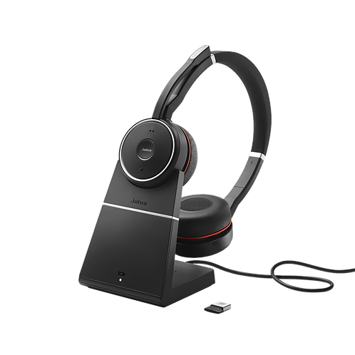 Jabra EVOLVE 75 Stereo UC Wireless Headset + charging stand