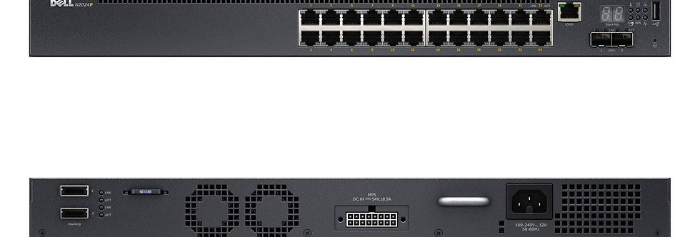 Dell Networking N2024P 24 Port PoE+ 1000W Managed Switch