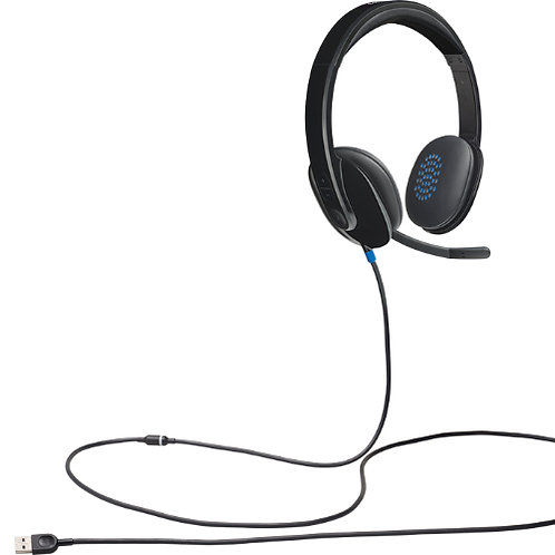 Logitech H540 USB Headset Laser-tuned drivers. Crystal-clear voice and sound.