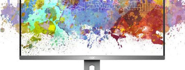 """AOC 27"""" iPS HD Pivot +Swivel Frameless Business Monitor"""