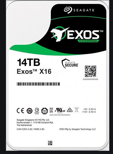 """Seagate EXOS Enterprise 14TB 3.5"""" SAS HDD"""