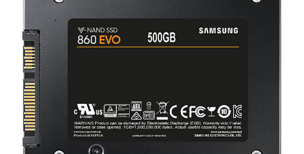 "Samsung 860 EVO 500GB 2.5"" SSD"