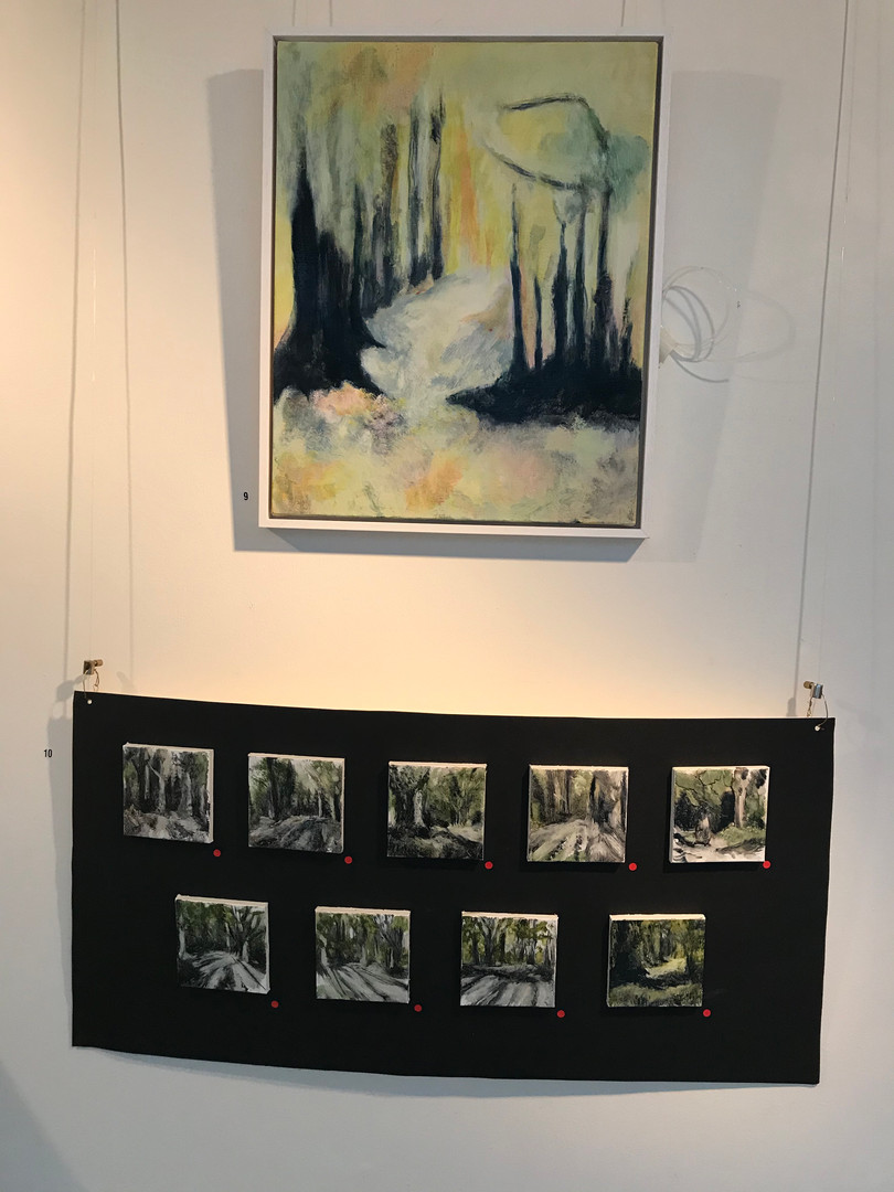 Vivienne Lewin exhibition December 2019 work in situ