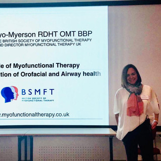 Lecturing at the BDA for the the British Society of Dental asleep Medicine