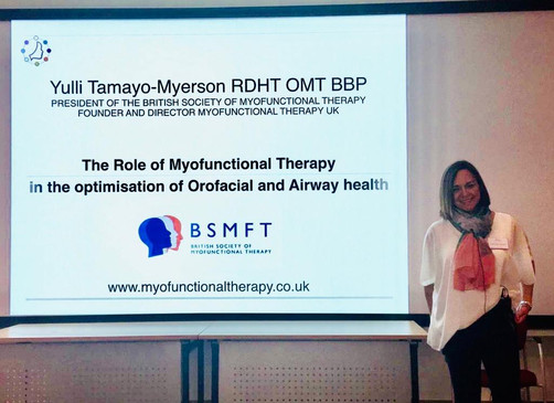 Lecturing at the BDA for the he British Society of Dental asleep Medicine.