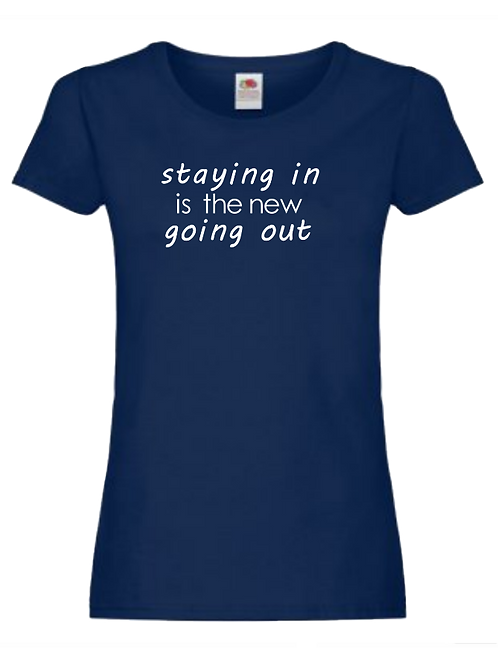 Womens staying in t-shirt