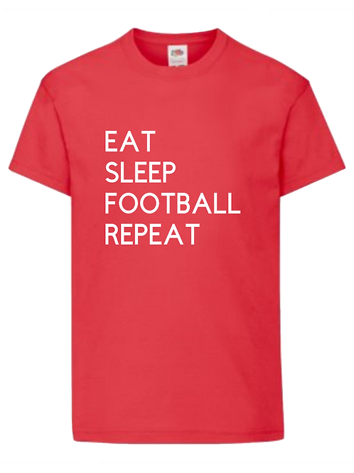 Eat Sleep Football Repeat- personalised - Name and number on back