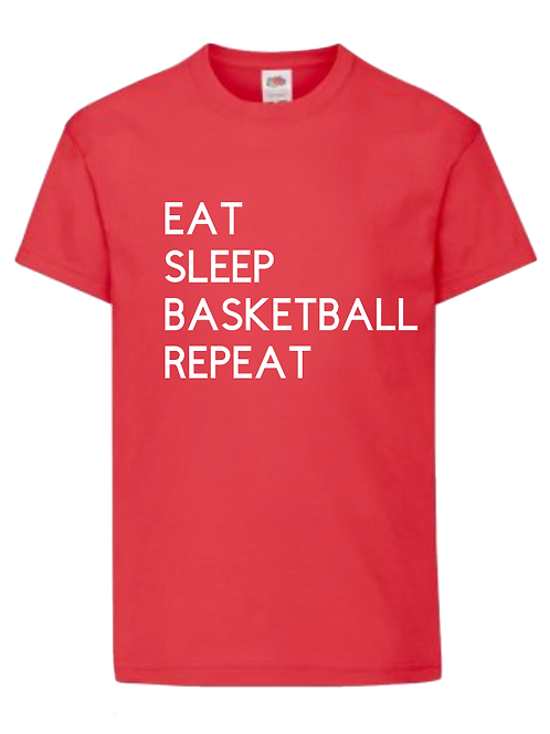 Eat Sleep Basketball Repeat- personalised - Name and number on back