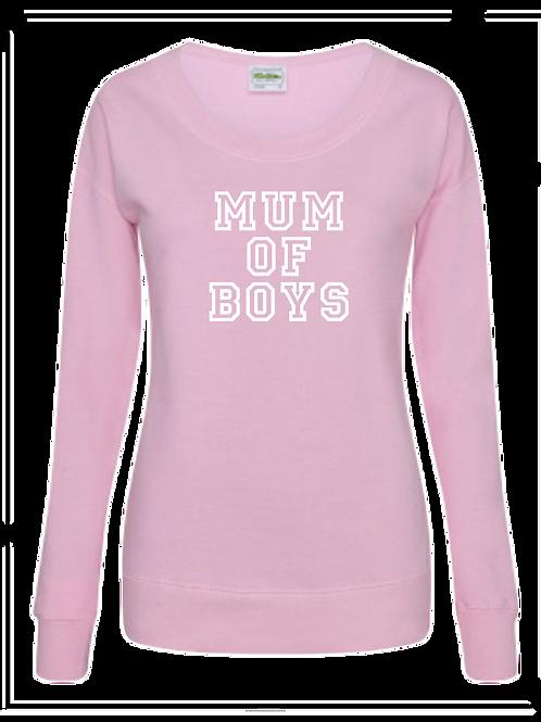 Womens Mum of Boys sweat top
