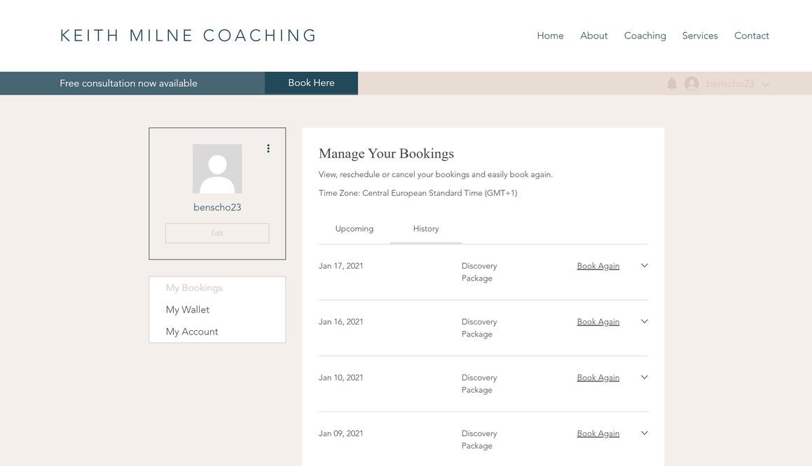 Keith Milne Coaching Website 3