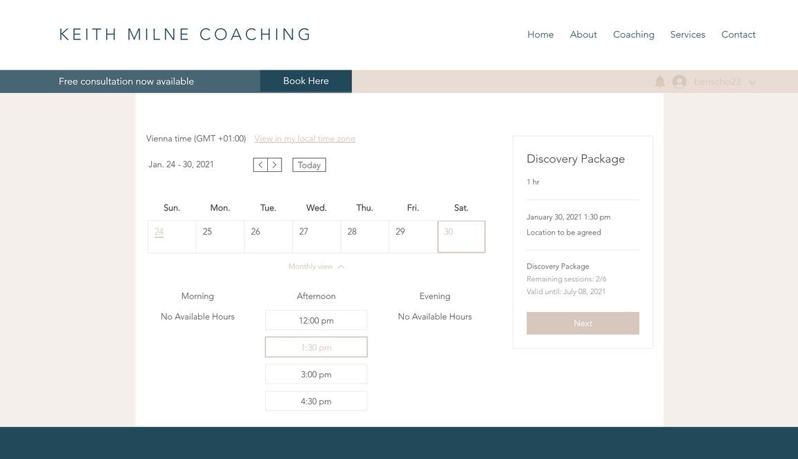 Keith Milne Coaching Website 2
