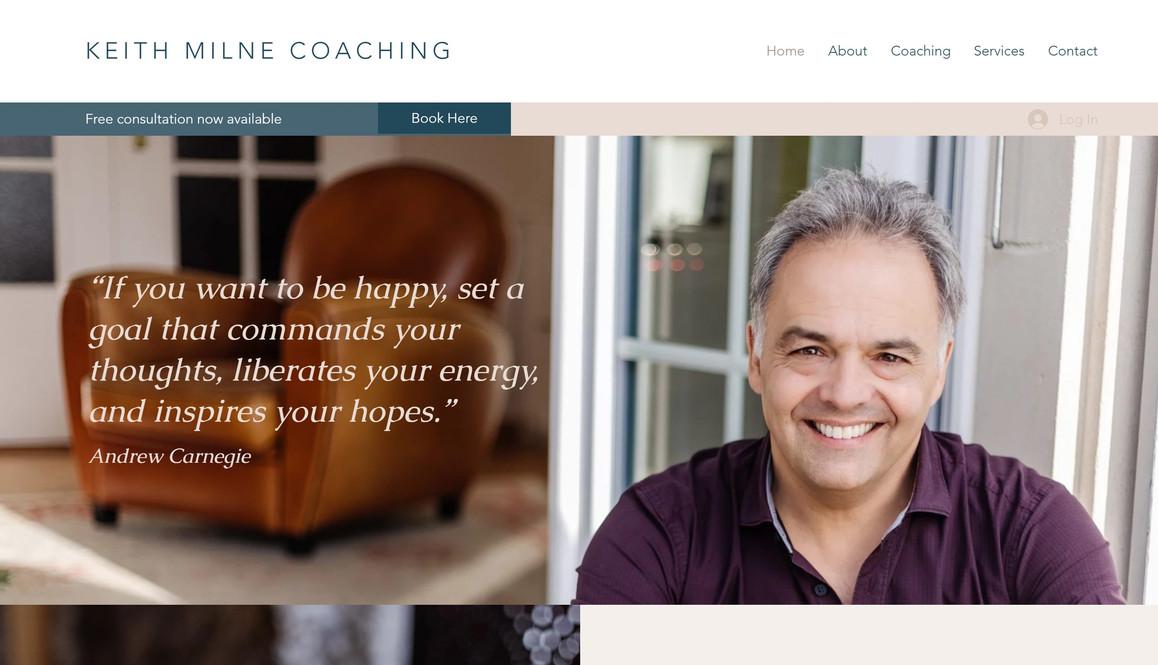 Keith Milne Coaching Website 1