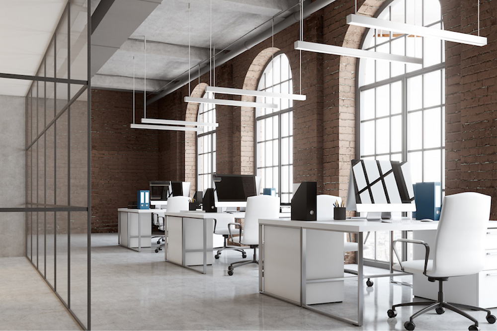 Modern office design at a workplace