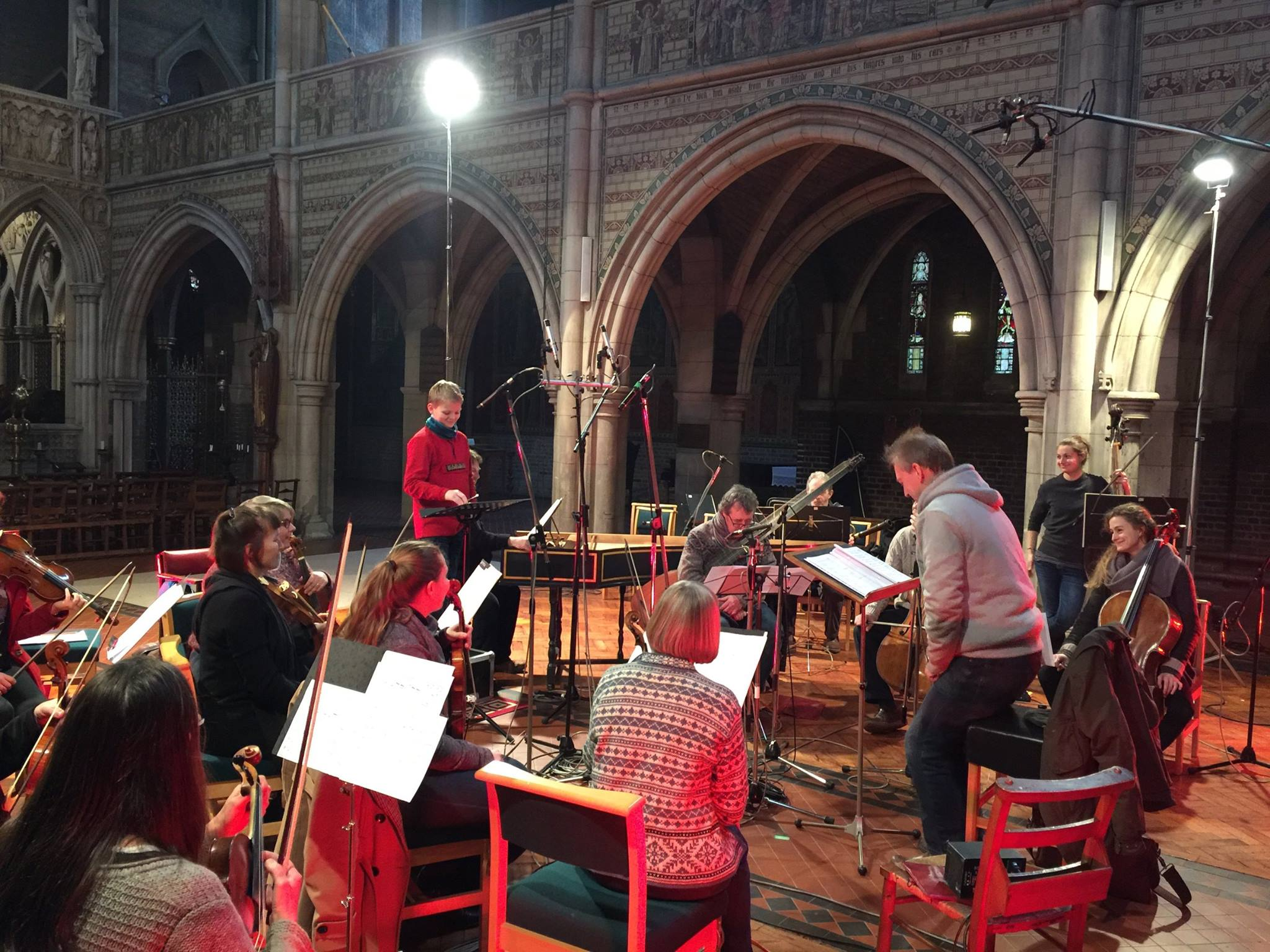 Aksel recording in St. Augustine's.