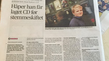 Interview in Norway's largest newspaper