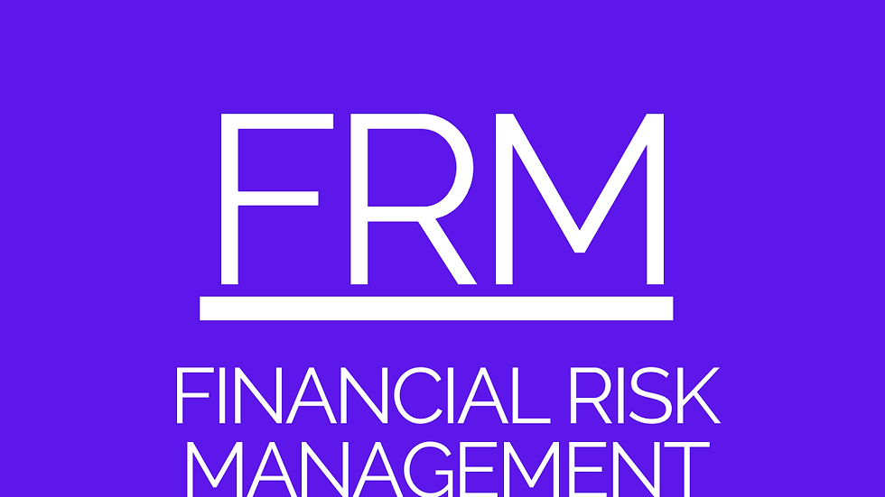 Financial Risk Mgmt (FRM) - CPA Resources