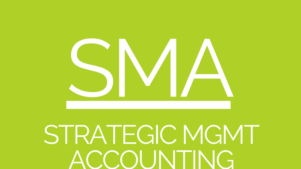 Strategy Management Accounting - CPA Resources