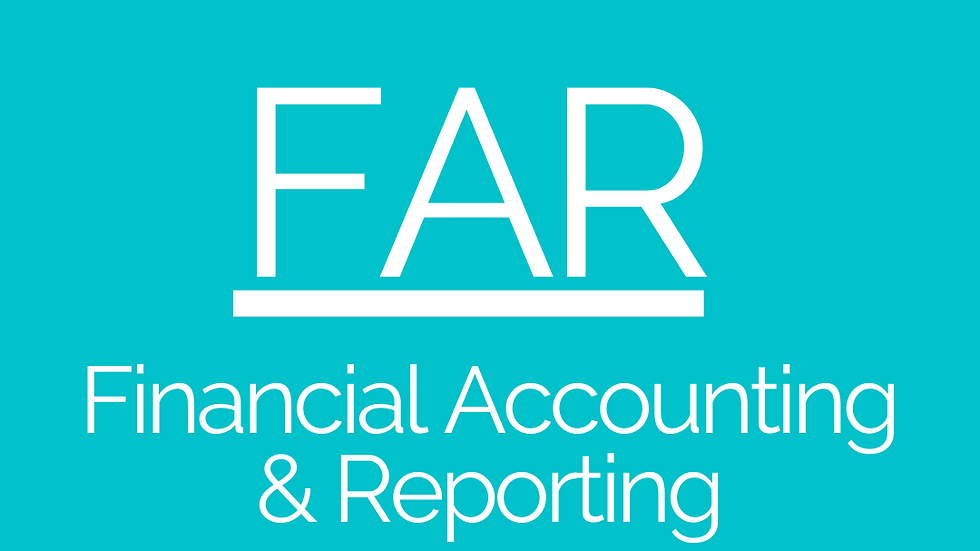 Financial Accounting & Reporting - Foundations