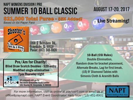 NAPT 2017 Summer 10-Ball Classic