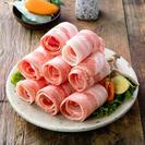 Thin-sliced pork belly