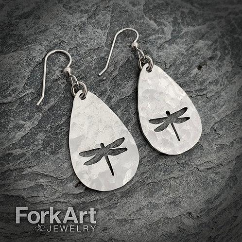 Dragonfly Sterling Silver Spoon Earrings