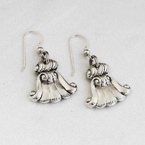 Romance of the Sea Sterling Spoon Earrings