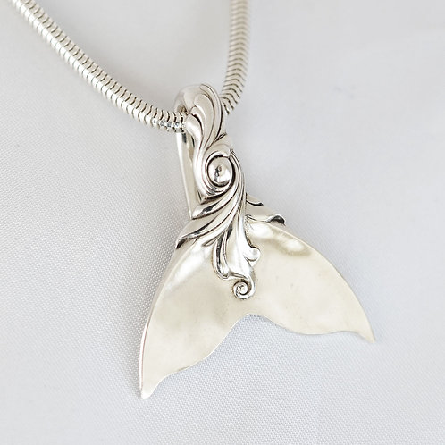Whale/Mermaid Tail Sterling Silver Pendant