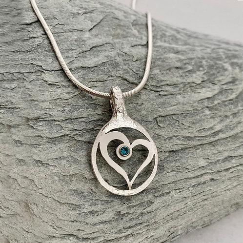 Heart Sterling Silver Spoon Pendant
