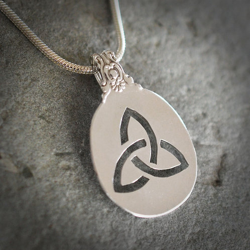 Celtic Knot Sterling Spoon Pendant