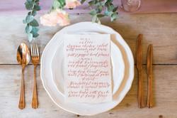 Gold Wedding Hire Vintage Rose