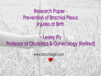 Research Paper - Prevention of Birth Brachial Plexus Injury