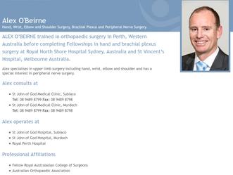 My surgeon, Alex O'Beirne