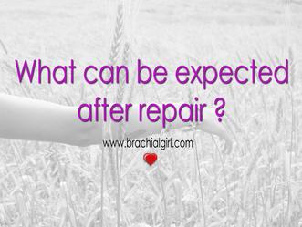 After repair of brachial plexus injuries