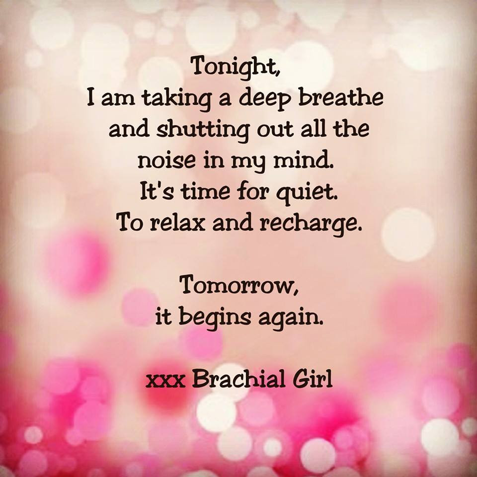 Brachial Girl - rest time