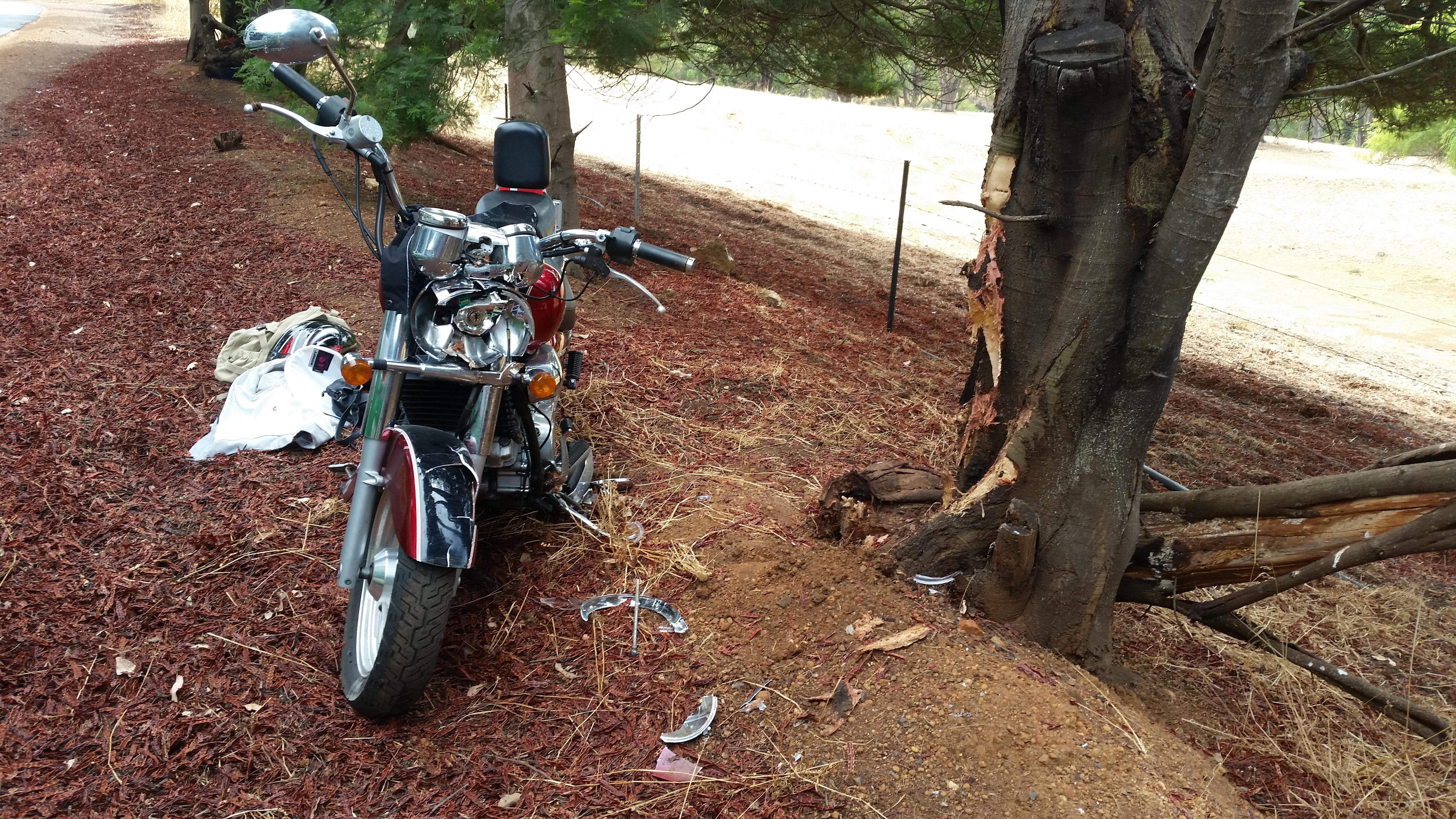 Poor bike ...
