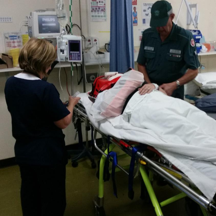 Brachial Girl - arriving at hospital