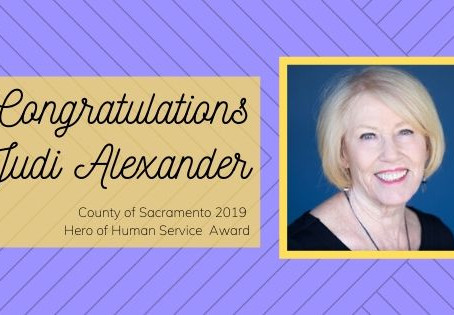 HART of Folsom's Judi Alexander wins Hero of Human Service Award from Board of County Supervisors!