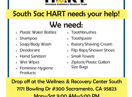 South Sac HART Water & Hygiene Products Drive