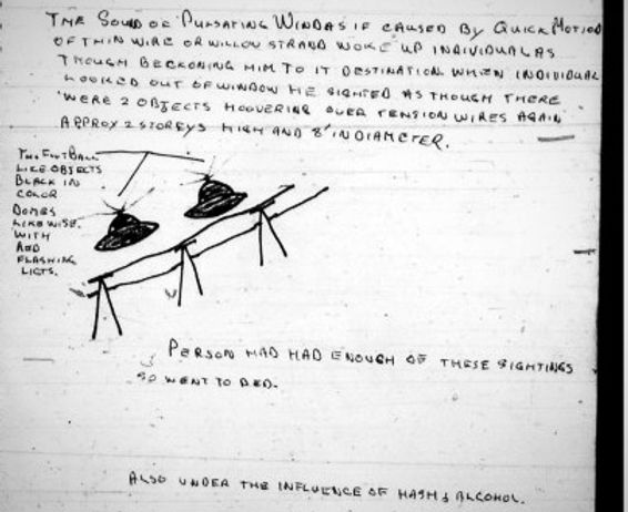 A Canadian UFO document from the national archives in Ottawa.