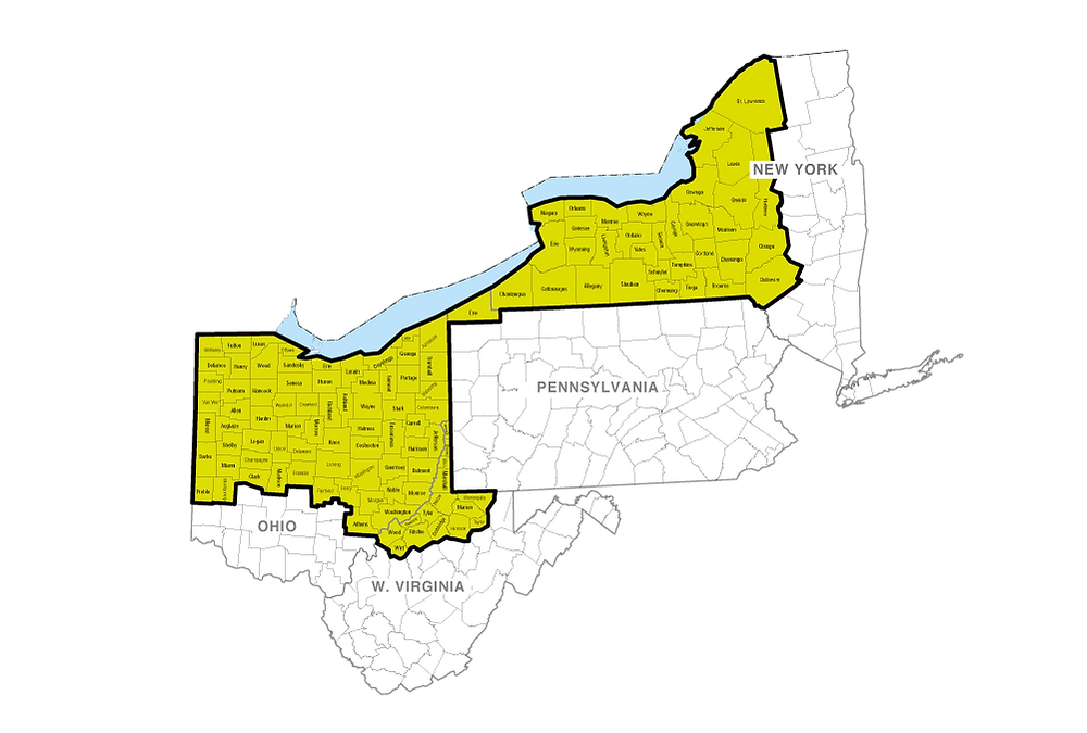 map of estabrook's service territory