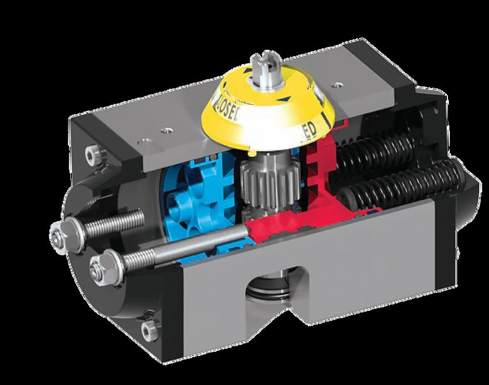 inside of a quarter-turn valve