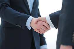 Handshake between customer and salesman