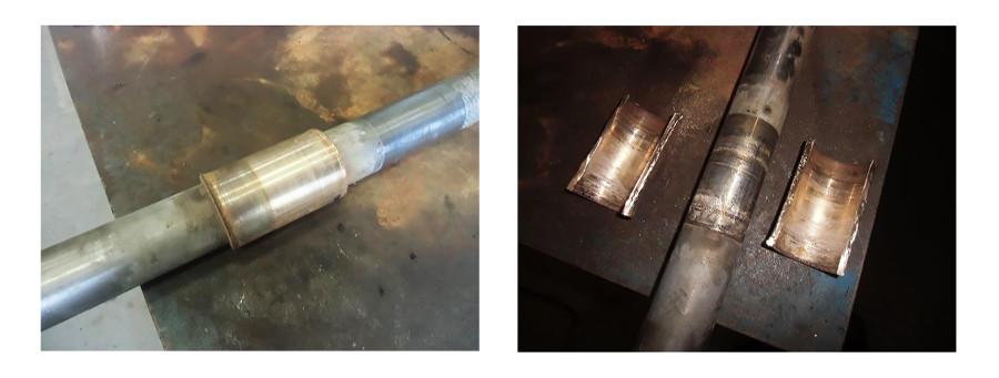 damage to a top bowl bearing