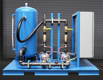 PLC controlled redundant pump skid with automatic switchover