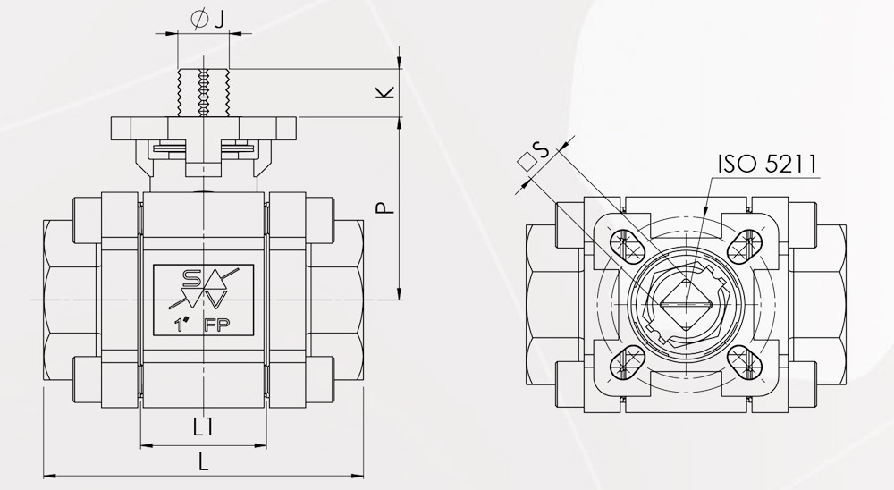 diagram of a quarter-turn valve
