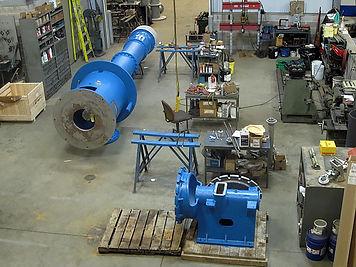 the interior of the Berea, Ohio service and repair shop