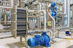 Pumping system in an industrial plant