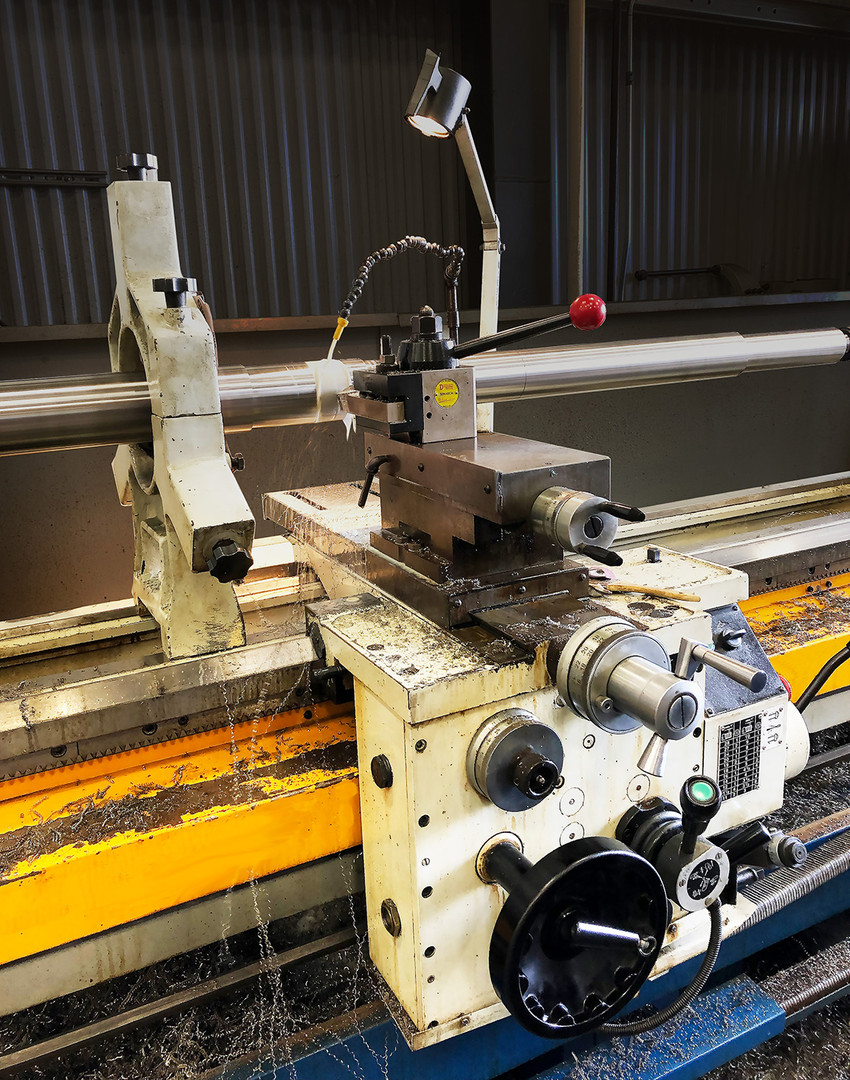 "A close-up of the 2011 Summitt Lathe 24"" x 120"